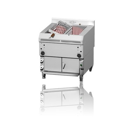 Gas Grill length 80cm half fixed and half rotated grid