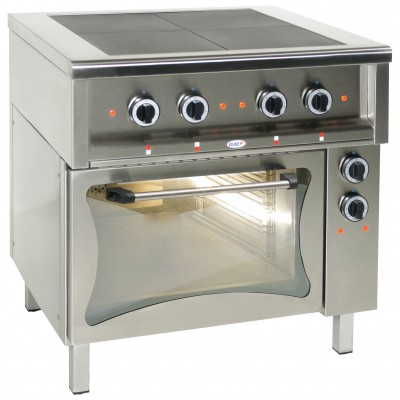 Electric Range with solid top