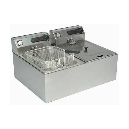 Electric Fryer 2x4.6ltr twin tank, 2 baskets
