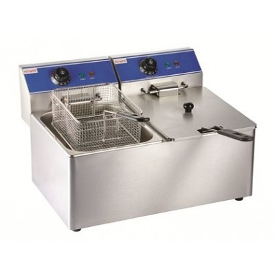 Electric Fryer 2x8ltr single tank, one basket