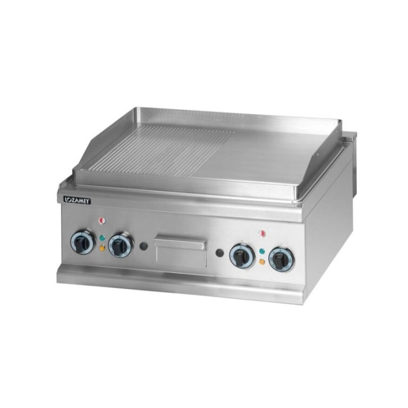 Electric Griddle with grooved surface