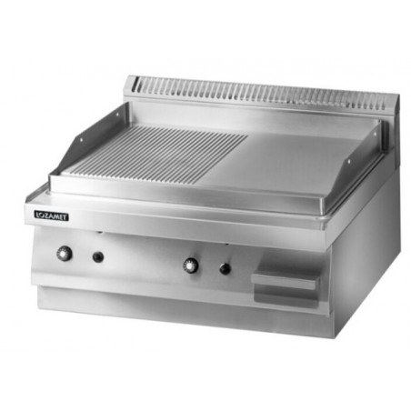 Gas Griddle with grooved surface