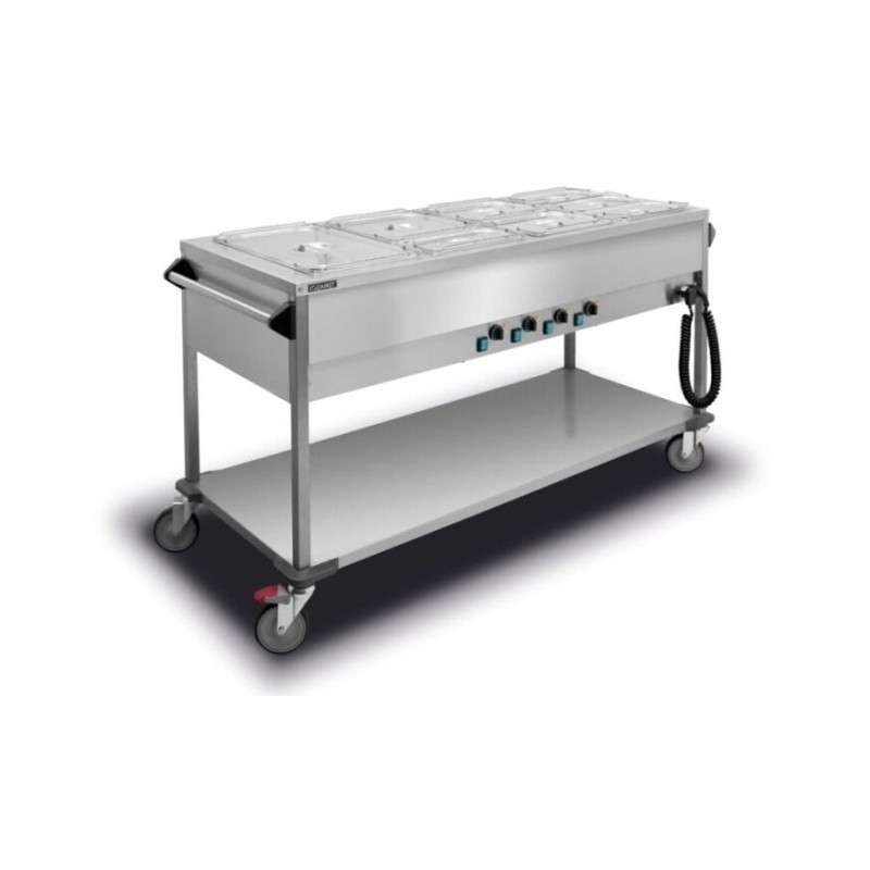 Bain Marie Trolley 4x1/1GN single water tank