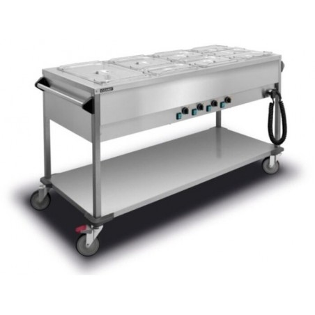 Bain Marie Trolley 4x1/1GN four water tanks