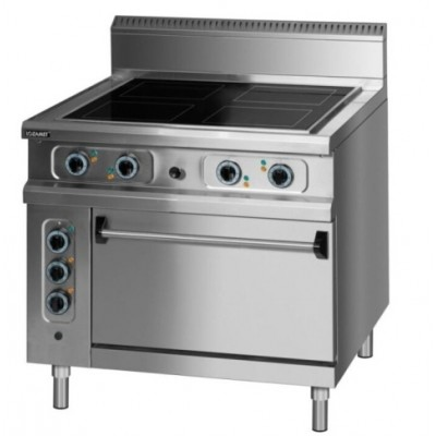 Electric cooker with oven
